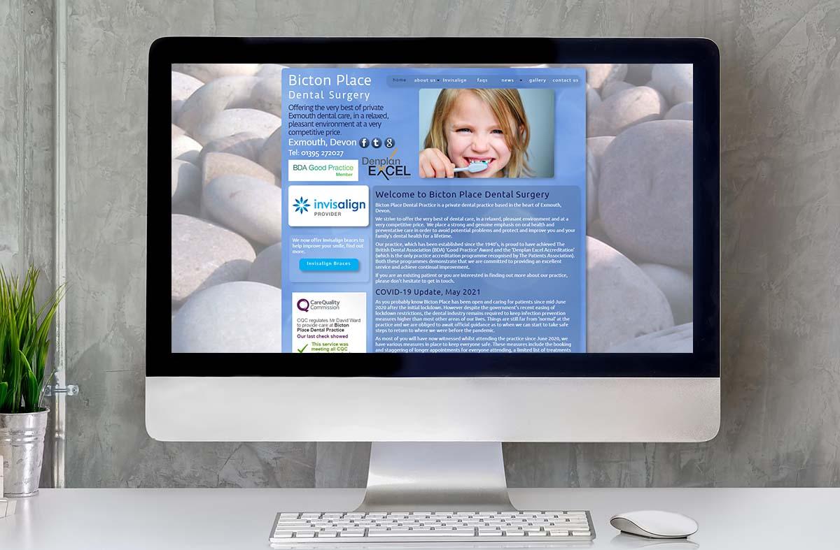 Bicton Place Dental Surgery website