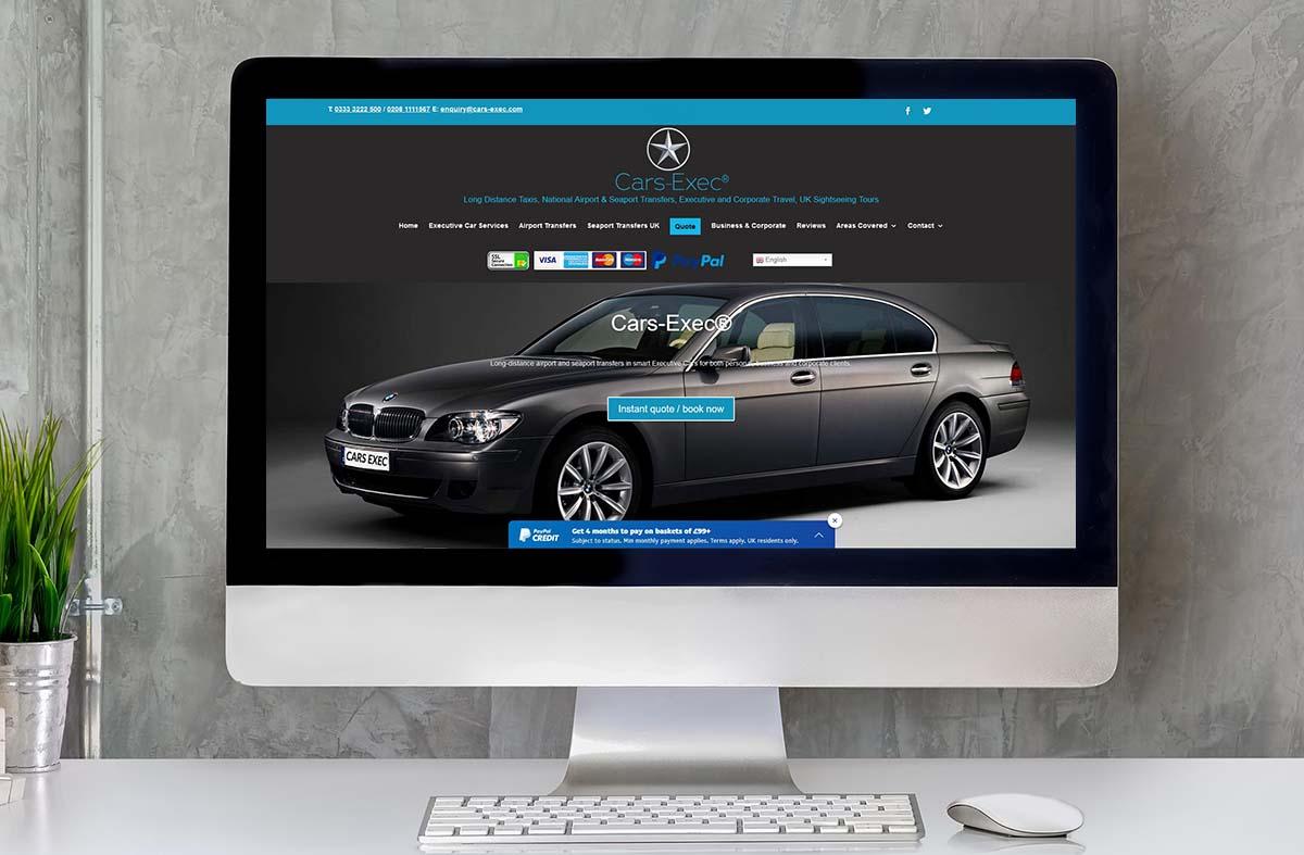 Cars Exec website