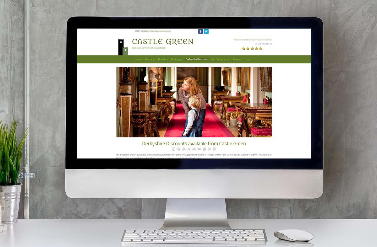 Castle Green Bed and Breakfast website