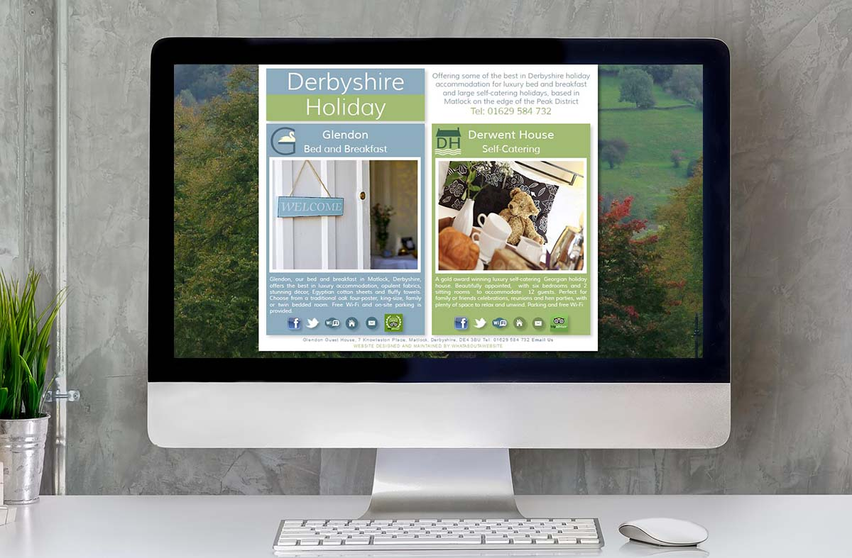 Derbyshire Holiday website
