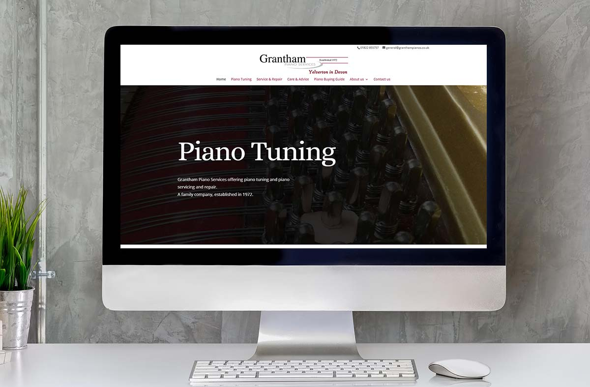 Grantham Piano Services website