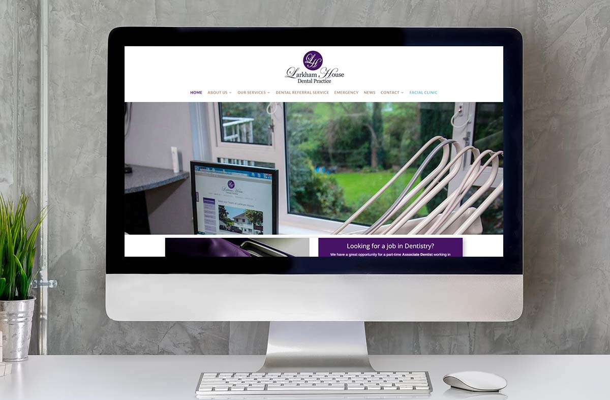 Larkham House Dental Practice website