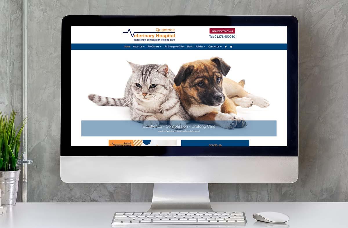Quantock Veterinary Hospital website