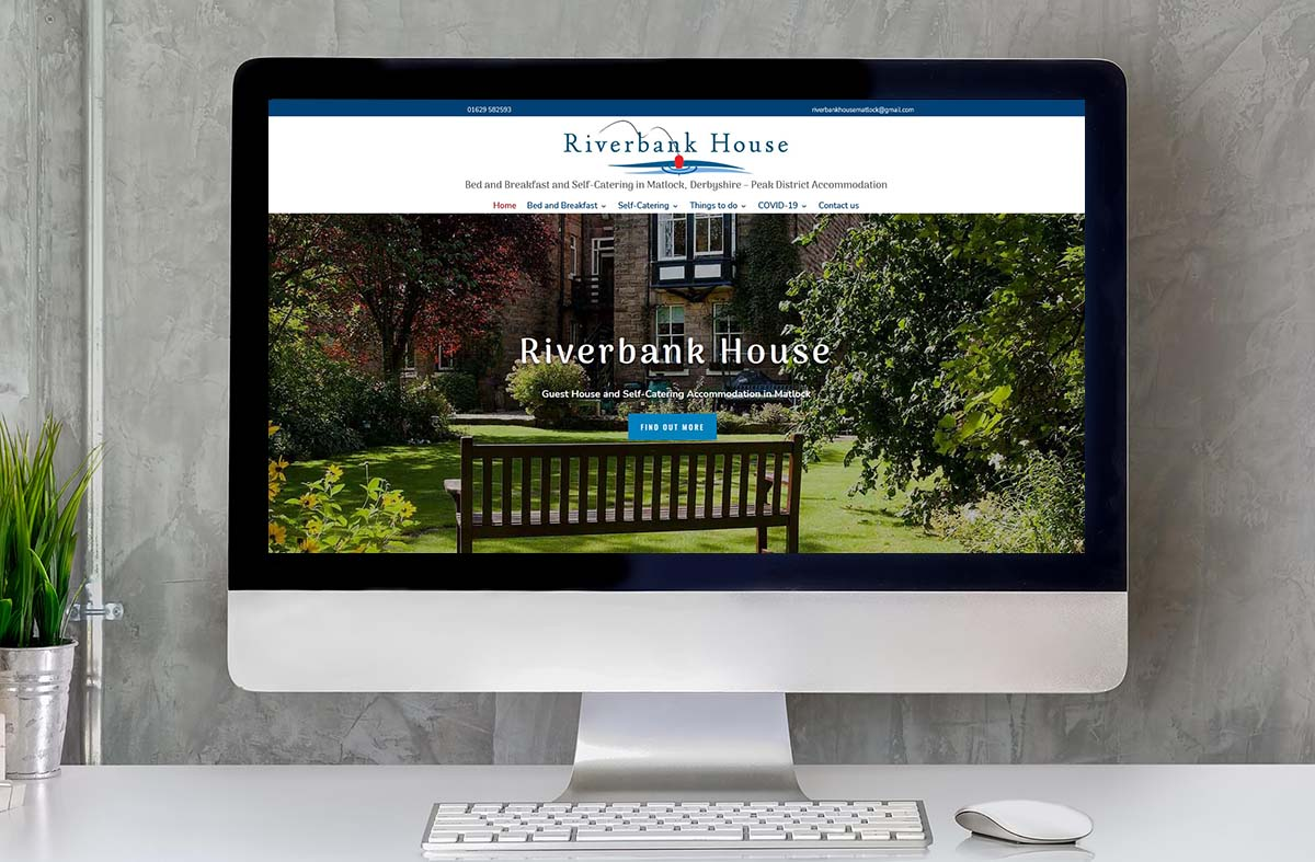 Riverbank House Bed and Breakfast website
