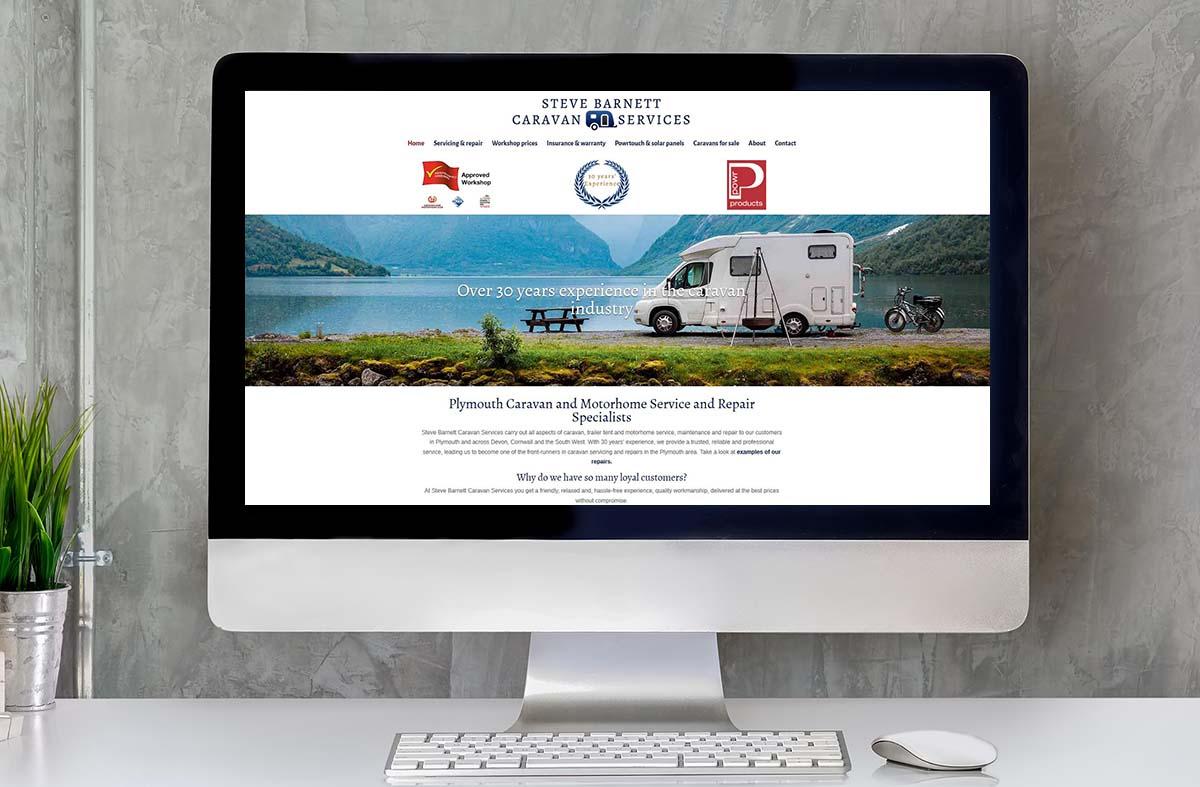 Steve Barnett Caravan Services website