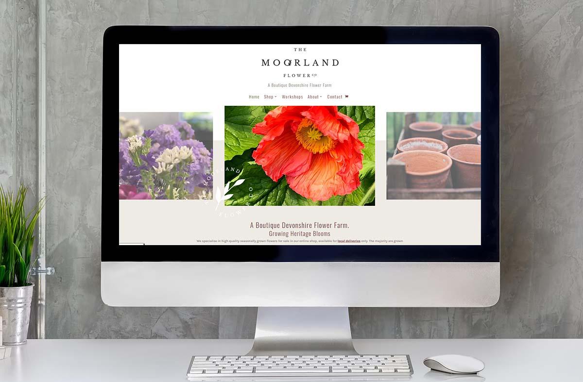The Moorland Flower Company website