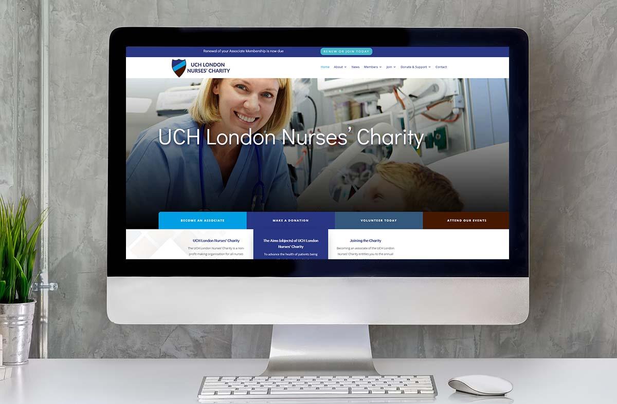 The UCH London Nurses Charity website
